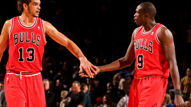 Luol Deng averaged 16.0 points and 6.3 rebounds per game and played nearly 23,000 minutes in a Bulls uniform.