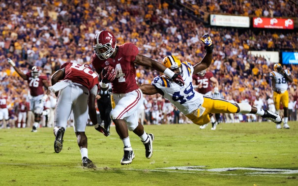 Yeldon (#4) along with WR Amari Cooper will have to carry the Bama offense that will be relatively inexperienced this coming season.