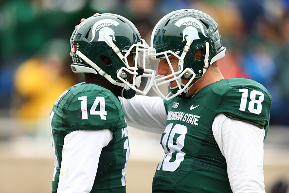 Cook (right) and Lippett (left) added a new dimension to Sparty's offense in 2014, and they look to keep up with Bryce Petty and Baylor's offense.