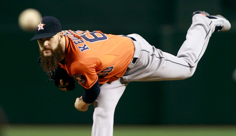PHOENIX, AZ - OCTOBER 02: Starting pitcher Dallas Keuchel #60 of the Houston Astros throws against the Arizona Diamondbacks during the first inning of a MLB game at Chase Field on October 2, 2015 in Phoenix, Arizona. (Photo by Ralph Freso/Getty Images)